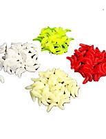 1 штук Мягкие приманки Случайный цвет 0.5 г Унция мм дюймовый,Пластик Обычная рыбалка