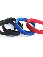 Dog Leash Adjustable/Retractable Solid Red Blue Brown Fabric
