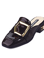 Women's Sandals Spring Summer Comfort Microfibre Dress Chunky Heel Block Heel Jewelry Heel Black Burgundy