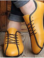 Желтый-Для мужчин-Повседневный-Резина-На плоской подошве-Гладиаторы-Кеды