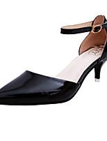Mujer-Tacón Stiletto-Tira en T-Tacones-Exterior Vestido Fiesta y Noche-Semicuero-Dorado Blanco Negro Plata Rosa