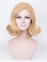 America and Europe Pop Golden Women Style Brief Paragraph Wig