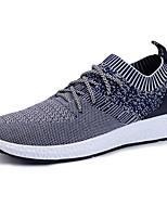 Herren-Sneaker-Outddor Lässig Sportlich-Tüll-Flacher Absatz-Komfort Mary Jane Leuchtende Sohlen-Schwarz Grau Hellgrau