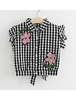 Girls' Casual/Daily Embroidered Suit & Blazer,Cotton Summer Sleeveless