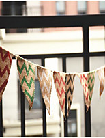 2.8m Jute Burlap Bunting Just Married Rustic Vintage Wedding Banner Garland Party Photography Flags Decoration Photo Props Flag size 11 * 13 cm