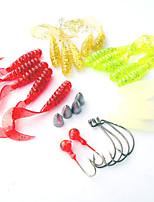 1 штук Мягкие приманки Случайный цвет 98 г Унция мм дюймовый,Пластик Обычная рыбалка