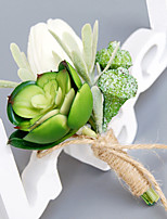Wedding Flowers Free-form Lilies Boutonnieres Wedding Party/ Evening Green Polyester