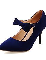 Women's Heels Summer Fall Club Shoes Fleece Office & Career Party & Evening Dress Stiletto Heel Bowknot