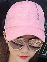 Sunscreen Shading Solid Letters Mesh Patchwork Beach Floppy Hat Sun Hat Baseball Cap