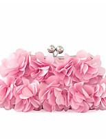 L.WEST Women's Ladies Silk simple fashion Dinner Bag