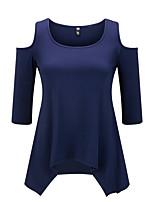 Aliexpress mulheres europeias e americanas novas ebay amazon seção strapless sexy longa de mulheres de grande porte&# 39; s camisetas