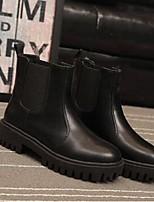 Women's Boots Comfort PU Casual Flat Heel Black