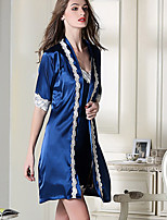 Women's Satin & Silk Nightwear Solid-Thin Polyester Women's