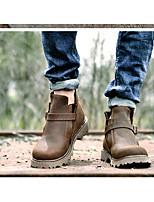 Men's Boots Summer Comfort Rubber Casual Low Heel Coffee
