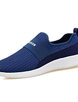 Черный Морской синий Красный-Для мужчин-Для прогулок Повседневный Для занятий спортом-Тюль-На плоской подошве-Удобная обувь Светодиодные