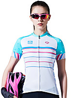 SANTIC Cycling Jersey Women's Short Sleeve Bike Breathable Quick Dry Comfortable Sweat-wicking Jersey 100% Polyester Classic Summer