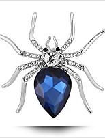 Broches Cristal Cristal Pedaço de Platina Azul Oceano Animal Jóias Casamento Festa Ocasião Especial