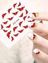 10pcs/set Beautiful Nail Art Water Transfer Decals Lovely Bowknot Design Nail Art Beauty Sticker STZ-034