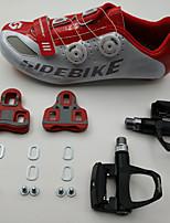 BODUN/SIDEBIKE® Road Bike Shoes Cycling Shoes With Pedals & Cleats Unisex Anti-Slip Anti-Shake/Damping Cushioning Ultra Light (UL) Outdoor Road Bike