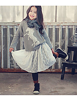 Girls' Casual/Daily Floral Jacket & Coat,Cotton Spring Fall Long Sleeve