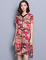 Sign heavy silk dress middle-aged women's summer new retro long section of high-end silk