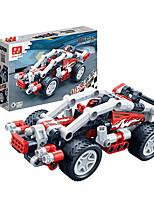 Children 's Puzzle Assembled Building Blocks Toys Hi - Tech Pull Back Car Racing Model 6966