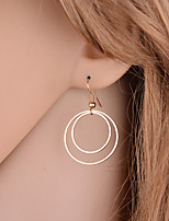 Drop Earrings Jewelry Alloy Basic Design Simple Style Round Gold Silver Jewelry Party Halloween Daily Casual 1 pair