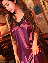 Women Ultra Sexy Nightwear,Sexy Solid-Medium Polyester Spandex Purple Women's