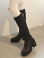 Women's Boots Winter Mary Jane PU Casual Chunky Heel Block Heel