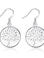 Tropfen-Ohrringe Kristall versilbert Kreisförmiges Design Blumenform Silber Schmuck Hochzeit Party Halloween Alltag Normal 1 Paar