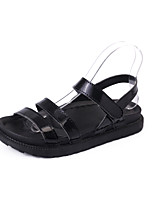 Women's Sandals Summer Mary Jane Leatherette Outdoor Dress Casual Flat Heel Buckle Walking