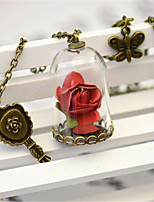 Beauty and The Beast Traditional Lolita Flowers Necklace Lolita Accessories