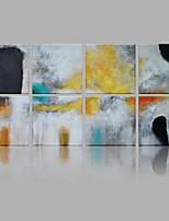 Ручная роспись Абстракция Квадратная,Modern Европейский стиль более 5 панелей Холст Hang-роспись маслом For Украшение дома
