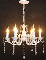 Chandelier Modern Crystal Mini Candle Style Iron Lamp Restaurant Study / Office Children's Room Lamps