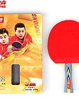 3 Stars Ping Pang/Table Tennis Rackets Ping Pang Wood Long Handle Pimples Indoor Performance Practise Leisure Sports-#