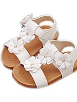 Damen-Sandalen-Lässig-PU-Flacher Absatz-Komfort-Weiß Rosa