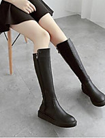 Women's Boots Comfort PU Casual Chunky Heel