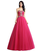 Formal Evening Dress Ball Gown Sweetheart Floor-length Tulle with Beading