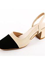 Sandals Spring Summer Fall Slingback Fleece Office & Career Party & Evening Dress Low Heel Chunky Heel Black Pink Red Beige
