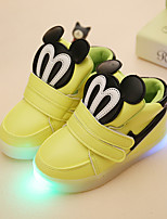 LED's Shoes Girls' Sneakers Spring Fall Winter Light Up Shoes Synthetic Party & Evening Athletic Casual Flat Heel Buckle Animal Print Hook & Loop