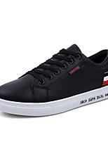 Белый Черный-Для мужчин-Для прогулок Повседневный-ПВХ-На плоской подошве-Удобная обувь-Кеды