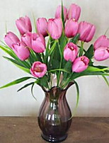 1 Branch Fiber Tulips Tabletop Flower Artificial Flowers