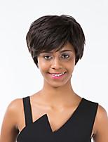 Venda preto quente cabelo curto cabelo humano peruca fofo para as mulheres