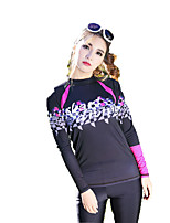 Sports Women's Wetsuit Skin Ultraviolet Resistant Sunscreen Elastane Tactel Diving Suit Long Sleeve Diving Suits-Diving Beach Surfing