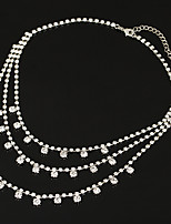 Necklace AAA Cubic Zirconia Choker Necklaces Layered Necklaces Jewelry Wedding Party Special Occasion Engagement DailyBasic Design