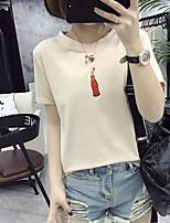 Знак 2017 лето новые женщины корейский тонкий рубашку печать кокс бутылки молока