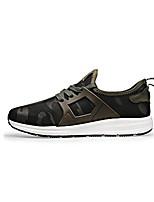 Herren-Sneaker-Lässig-Tüll-Flacher Absatz-Komfort-Schwarz Grün