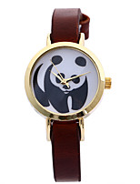 Women's Fashion Watch Quartz Leather Band Casual Black Brown