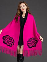 Damen Lang Strickjacke-Ausgehen Einfach Solide Rundhalsausschnitt Langarm Baumwolle Andere Frühling Mittel Mikro-elastisch