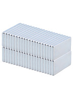 20 x 10 x 2mm Strong Rectangle NdFeB Magnets - Silver (50 PCS)